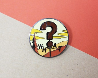 Weird Weather Enamel Pin
