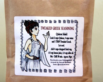 Tweaked Greek Seasoning - Organic Greek Spice Blend - Organic Spices - Greek Spice Mix - Fresh Spice Blend