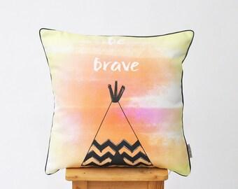 """Modern Pillow, Geometric Pillow, Decorative Pillows, Throw Pillow, Cushion, Kids Pillow Cover, Nursery Decor, Pillow Cover, Tepee 16"""" x 16"""""""