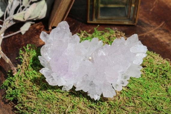 Large Amethyst Flower 9.1 oz., Raw Amethyst, Purple Crystal Cluster, Rare Amethyst Crystal, Amethyst Healing Crystal, Amethyst Flower