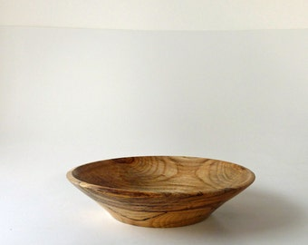 Wood Bowl Spalted Hackberry Wooden Bowl  Hand Turned Wood Bowl