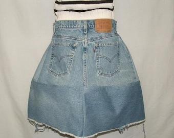 CUSTOM Eco Eccentric Denim Skirt YOUR SIZE