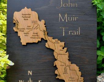 John Muir Trail Wood Map