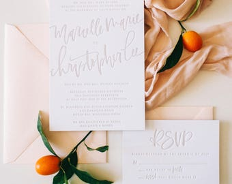 The Marcelle - Taupe Letterpress Suite