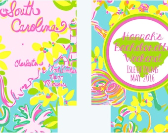 South Carolina Bachelorette Huggers. Bachelorette/ Birthday Party Can Coolers. Charleston Party Favors. Personalized South Carolina Huggers!