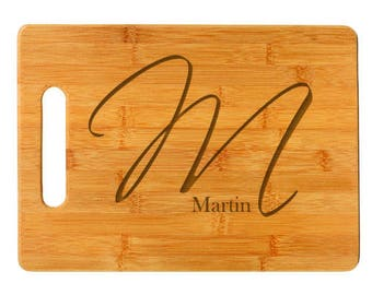 Script Initial Cutting Board