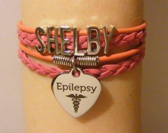 Epileptic bracelet, epileptic jewelry, epilepsy bracelet, epilepsy jewelry, medical id bracelet, medical id jewelry, fashion bracelet