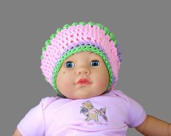 Pink Baby Hat, Pastel Baby Cap, Girls Pink Hat, Hats Caps, Pink Winter Hat, Crochet Hat Girls, Crochet Toddler Hat, Photo Prop Hat