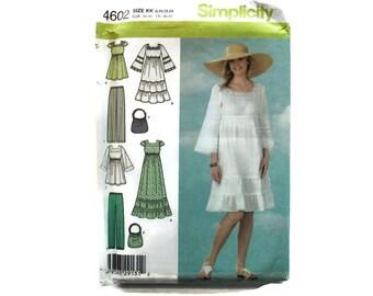 2000 Sewing Pattern - Simplicity 4602 - Empire Maxi Dress Blouse Bag