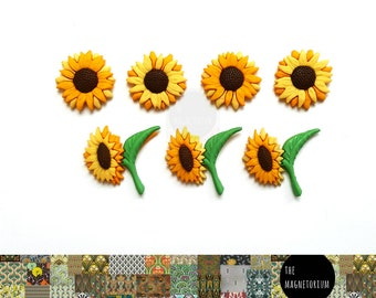Sunflower Fridge Magnet Set