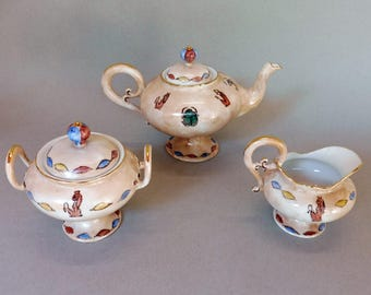 Egyptian Theme Tea Set