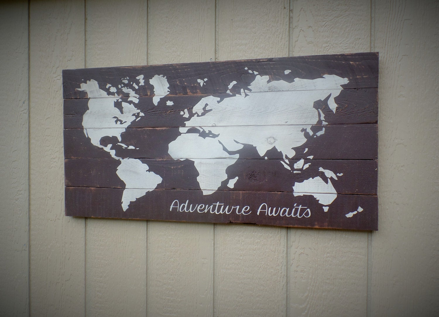 Adventure awaits large wooden pallet board sign barn wood sign zoom gumiabroncs Choice Image