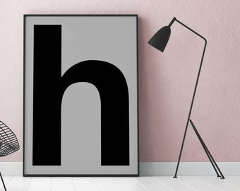 Poster: typolove - Monogram / Letter H No. 1