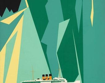 Giclee Print: Alaska and Taku Glacier Vintage Travel Poster