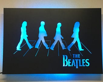 Beatles Abbey Road Art Sign with LED lights (optional)