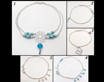 Glass beads ankle bracelet