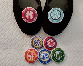 The Perfect Tailgate Accessory -- Custom Monogrammed Shoe Clips