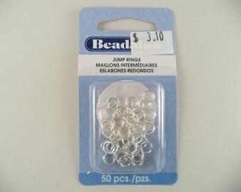 Beadalon 6mm Silver Plate Jump Rings 50 Pcs.