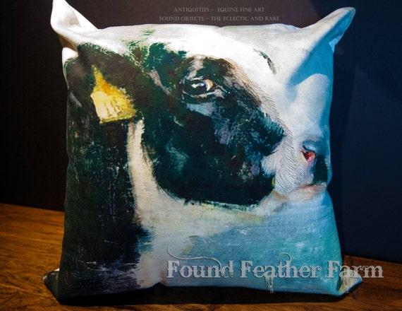 Handmade Cotton Holstein Cow Pillow