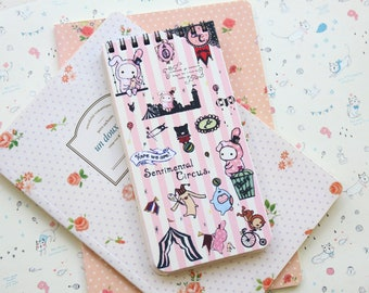 Stripes Sentimental Circus cute cartoon notebook