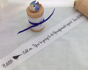 Pregnancy announcement, baby announcement, new baby, secret message, custom, A little bird told me, You are going to be grandparents