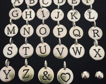 Pewter Initial & Symbol Charms