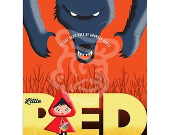 Little Red Riding Hood A3 poster