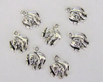 4 Pcs Tibetan Silver Elephant Charm 16x8mm