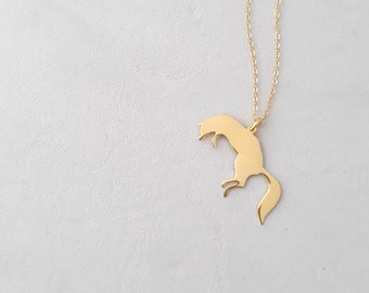 Fox Necklace - Fox Jewelry - Animal Necklace - Gold Necklace - Silver Necklace - Nature Necklace - Woodland Necklace Gold - Sterling Silver