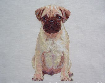 Fabric Panel tapestry Pug coupon
