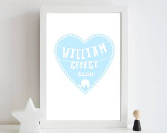 Nursery baby name print