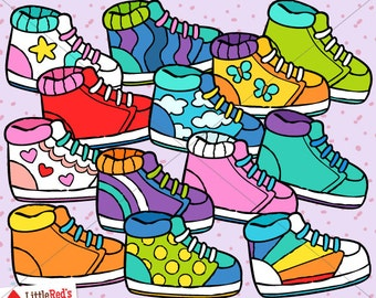Sneaker Running Shoe Clip Art and Lineart - personal and commercial use