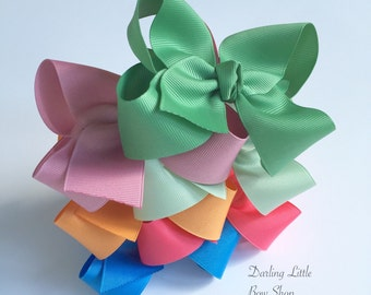 """Hairbow Set -- 6 Colors to Match Matilda Jane Happy & Free Release 3 -- choose 3"""", 4"""", 5"""" or 6"""" bows -- m2m Matilda Jane"""