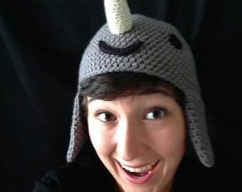 Crochet Narwhal Hat