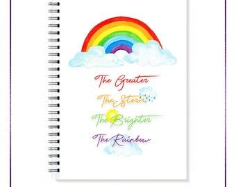 Rainbow A5 Spiral Notebook