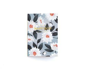 SALE // 2018 Floral Calendar Notebook // 1canoe2
