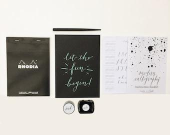 Calligraphy Starter Kit -  Calligraphy Beginner Kit - Pointed Pen Kit - Learn Calligraphy - Modern Calligraphy Kit - Dip Pen Kit