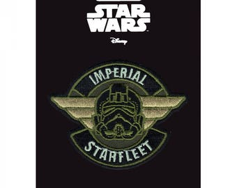 Official Disney Star Wars Rogue One Imperial Starfleet Iron On Embroidered Lucas-film Patch