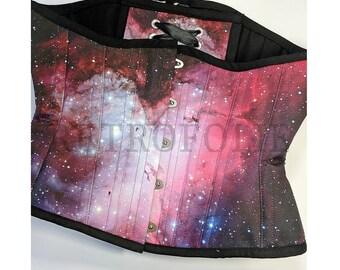 M16 Galaxy Corset - hourglass, corsetry, clothing, nebula corsets by RetroFolie