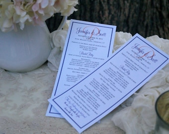 Custom Designed Wedding Programs