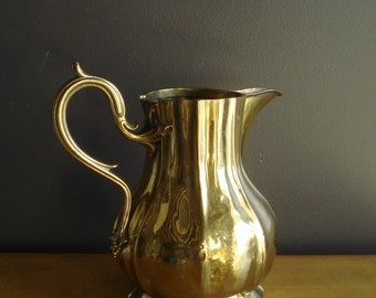 Champion Vessel - Large Vintage Brass Water Pitcher