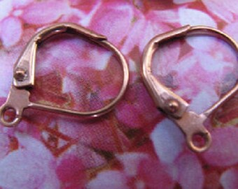 10 Pairs of Copper Lever Back Earrings