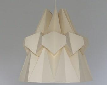 Hanging lamp HAIRI paper. Hanging in origami. Light in a Japanese spirit.