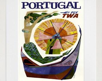 Portugal Art Wall Decor Retro Travel Poster  (ZT581)