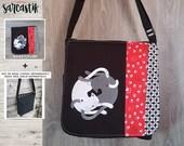 Yin Yang Cats bag flap fo...