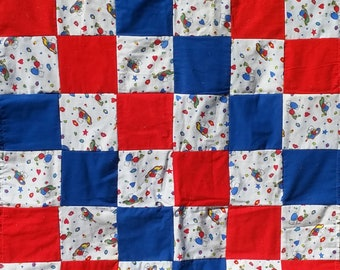 Christmas Bears Rag Quilt