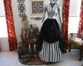 Striped Steampunk or Pirate/Renaissance Skirt Set Plus Sizes Available