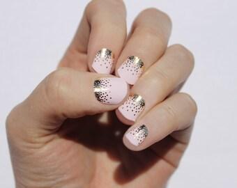 Wisper Pink Sparkle Nail Wraps