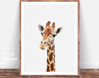 Nursery Wall Art, Giraffe Print, Nursery Animal Print, Nursery Decor, Nursery Art, Safari Nursery Decor, Nursery Prints, Kids Wall Art