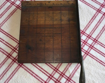 No. 2 Kodak Trimming Board Eastman Kodak Photo / Film trimmer Antique Wood and Metal Paper cutter Office Decor